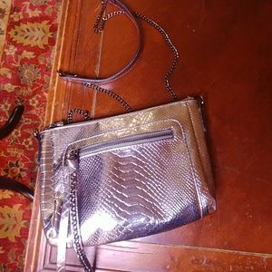 Sam & Libby irridecent metallic cross body purse